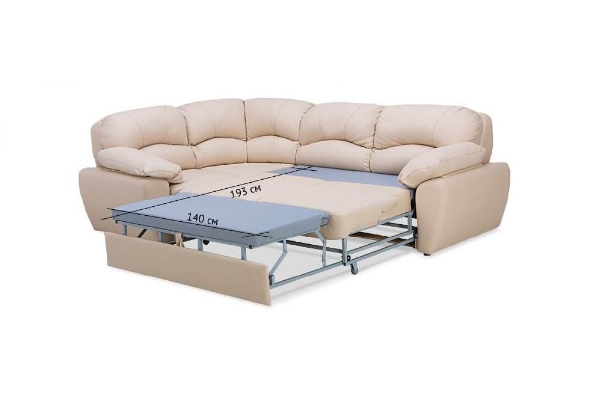 кожаный угловой диван со спальным местом купить