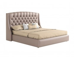 """Мягкая двуспальная кровать """"Стефани"""" 180*200 капучино  фото"""