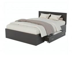 Кровать Адель 1200 с багетом, ящиком и ортопедическим матрасом А фото