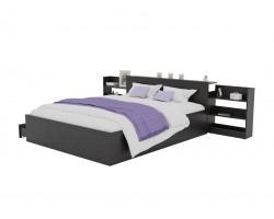 Кровать Доминика с блоком и ящиками 160 (Венге) фото