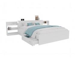 Кровать Доминика с блоком и ящиками 180 (Белый) фото