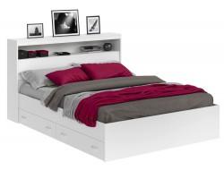 Кровать Виктория белая 180 с блоком, ящиками и матрасом PROMO B  фото