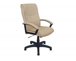 Офисное кресло Office Lab comfort-2052 Эко кожа слоновая кость фото