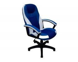 Кресло руководителя Office Lab comfort-2082 Синий/Белый фото