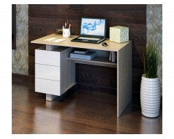 Стол компьютерный Ренцо-2 дуб сонома / белый фото