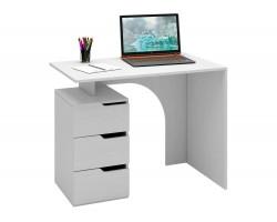 Стол компьютерный Нейт-1 белый фото