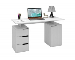Стол компьютерный Нейт-3 белый фото